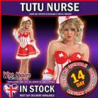 FANCY DRESS COSTUME # Sexy TUTU Nurse Large LG 12-14